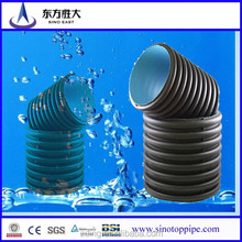 hdpe double wall corrugated drainage pipe,DN500mm SN4 sn8 HDPE double wall corrugated DWC pipe/culvert