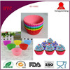 Wholesale BPA Free Reusable 12 Cups Silicone Muffin Baking Cup