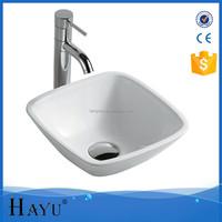 HY-431 white ceramic bathroom hand wash basin price