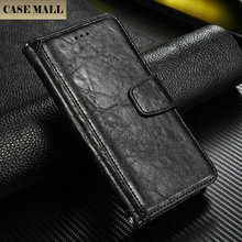 High quality 100% good fit for iPhone 6 crack leather wallet case for iPhone 6