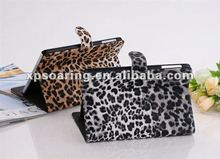 leopard skin stand case pouch bag for mini ipad