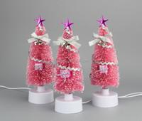 cheap small fiber optic mini christmas trees,MINI green Christmas Tree with colorful LED lights