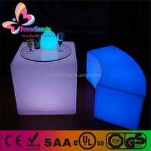 3d led glowing furniture bar table lighting white plastic led cube bar table