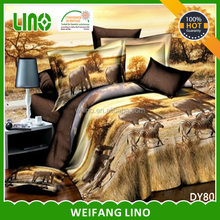 3d polyester animal printed duvet cover sets with 4 pillowcases