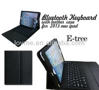 wireless tastatur bluetooth keyboard leather case cover for ipad air ipad5