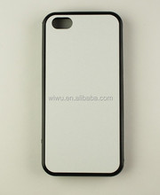 rubber blank sublimation case for iphone 5c, black and white color
