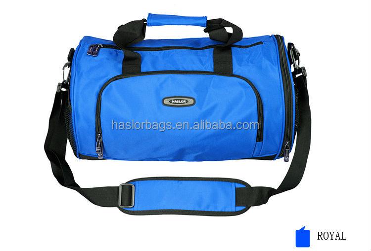 Polyester rouleau sacs de sport pour Gym avec chaussures compartiment