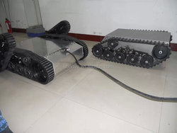 Rubber tracked robot chassis / Robot undercarrige