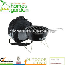 2 in 1 Portable Outdoor Charcoal Barbecue BBQ Grill With A Cooler Bag