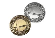 """""""Super Smash Badge"""" Deluxe Metal Pin (Antique Bronze)"""