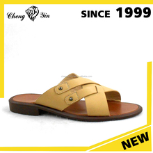 china wholesale alibaba sale Outdoor Use Rubber Outsole Material Soft Men PU Sandal And Slipper cheap price