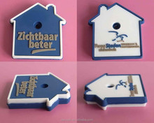 custom rubber key cover home shape with embossed logo silicone