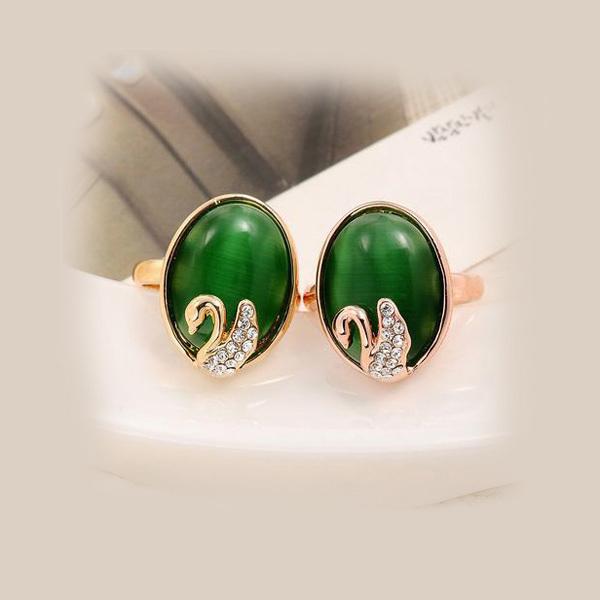vente en gros anneaux de pierres précieuses péridot nouveau design