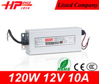 Guangzhou rainproof series high quality led switching power supply constant voltage 120w 10 amp 230v to 12v power adaptor