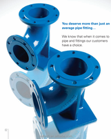 ground works pipeline products Ductile Iron 90 degree duckfoot flange elbow bend for contractors
