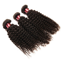 "Free Shipping 3 bundles/set 7a Grade 12"" 14"" 16"" Kinky Curly Remy Brazilian Human Hair Weave"