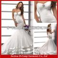 Wd-1232 hollywood estilo de vestidos de noiva sereia padrão de vestido de casamento árabe vestido da foto