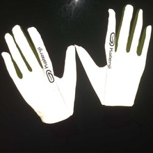 China alibaba hot sale fashionable glow in the dark reflective white silver gloves