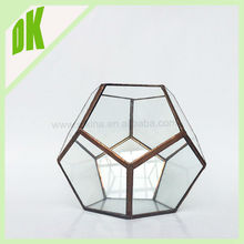 .....Memories are made of this...Celebrate the special occasion of an engagement, wedding geometric glass modern hexagon vase