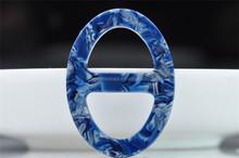 wholesale custom printed buckles Eco-friendly material elliptic acetate scarf buckle