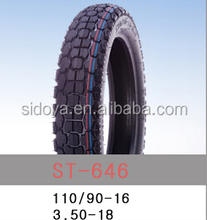 Qingdao factory supply high quality motorcycle tires 110/90-16