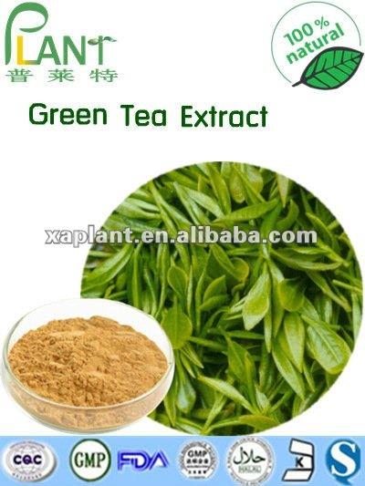 薄黄色の粉および競争価格の高品質100%の自然な緑茶Extract/L-Theanine