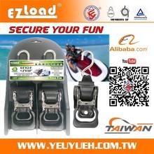 [EZ LOAD] 304 Stainless Steel Ratchet Black Seat Belt Webbing Adjuster