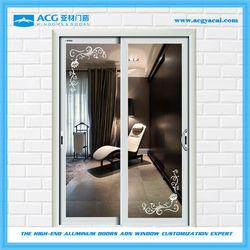 Bulk price commercial aluminum glass door frame