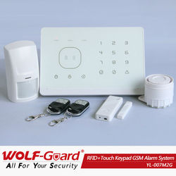 2014 new wireless digital solar home security alarm system with App and RFID (YL007M2G)