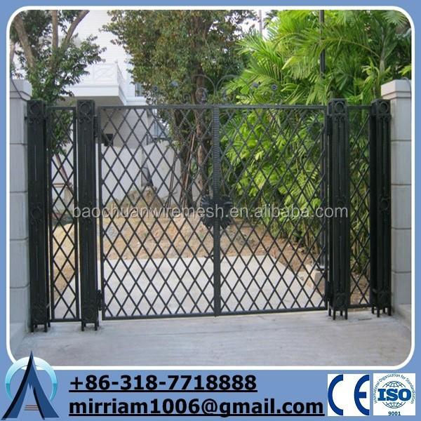 Forg porte de fer pour accueil haute qualit grille en for Porte de jardin en fer forge
