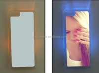 LED flashing blank sublimation PC phone case for iPhone 5C with metal Insert