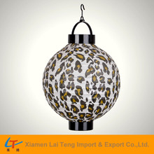 Fashion leopard printed paper battery operated lantern