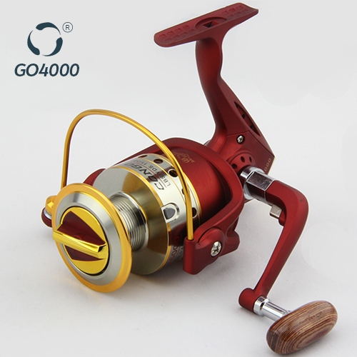 red chinese fishing reels with handle metal spool china