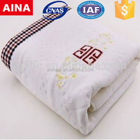 China Top 10 Towels' supplier high quality bamboo Embroidery white hot towel