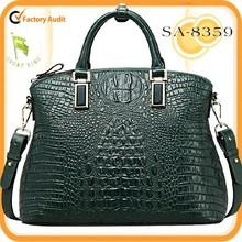 Hot ! 2015 fashion luxury genuine leather shoulder bag crocodile pattern tote bag