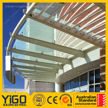 New design glass canopy polycarbonate awnings,fiberglass door canopy with high quality