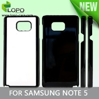2d phone cases for sublimation printing for Samsung Note 5 hard plastic