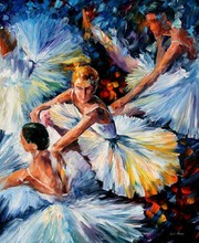 Handmade Oil Paintings Modern Landscape Abstract Ballet Art Dancing Pictures For Decor