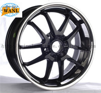American Racing Thrust II 17x8 POLISHED RIM WHEEL 5x4.75 4.07""