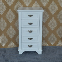 Alibaba china wooden white painted antique drawer cabinet
