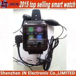 """2015 1.44"""" screen smart watch earphone port pedometer bluetooth vibrating alarm very cheap mobile phones in china"""