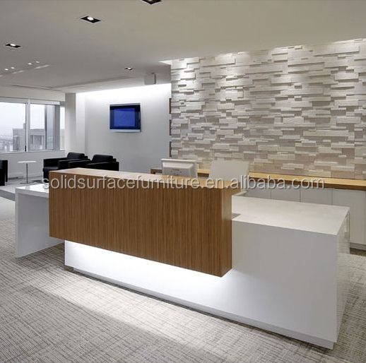Custom Modern Beauty Salon Reception Deskoffice Front