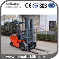 Chinese battery 4-wheel counterbalance fork lifter 3000kg with 6000mm lift height accept OEM TK30 model