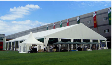 40x55 Aluminum dome tent china supplier for all event with wind loading maximum 120km/h(0.5knm)