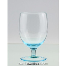 Brandy wine glass,Soft sky blue colored drinking glassware