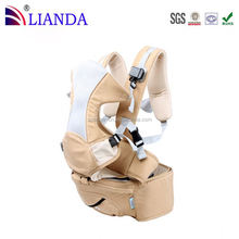 Safe and hip friendly forward facing position kangaroo baby carrier
