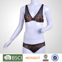 Top Sale One Piece Female 3/4 Cup Girl Strapless Bra And Panty Set