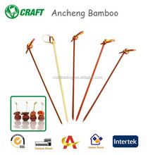 12cm bamboo Decorative knot party pick