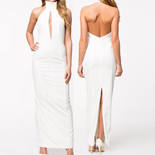 wholesale latest-gown-designs alibaba china gowns halter expose back slim skirt evening part club sexy dress