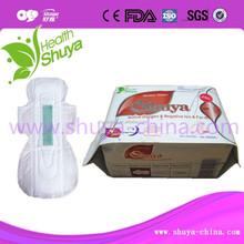 disposable soft cotton nano silver static anion santiary napkin female product